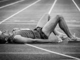 Sportfotografie-uitgeput